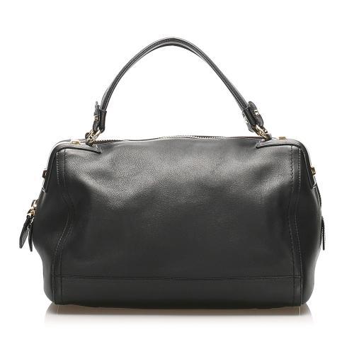 Salvatore Ferragamo Gancini Leather Handbag