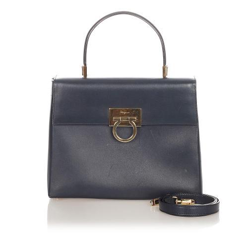 Salvatore Ferragamo Gancini Leather Satchel