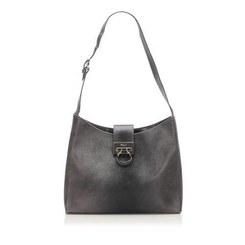 Salvatore Ferragamo Gancini Leather Shoulder Bag