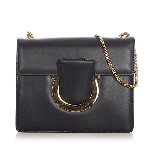 Salvatore Ferragamo Gancini Thalia Leather Crossbody Bag