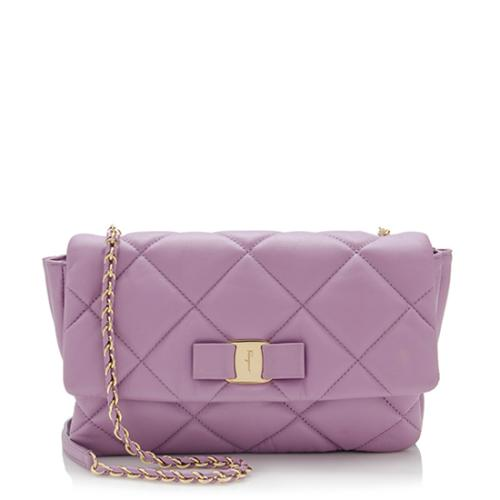Salvatore Ferragamo Quilted Leather Gelly Small Flap Shoulder Bag