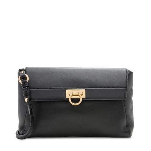 Salvatore Ferragamo Leather Abbey Small Flap Bag