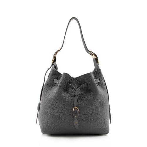Salvatore Ferragamo Leather Carla Bucket Bag
