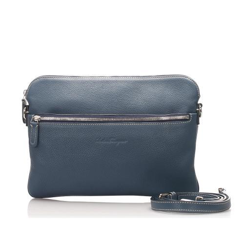 Salvatore Ferragamo Leather Clutch