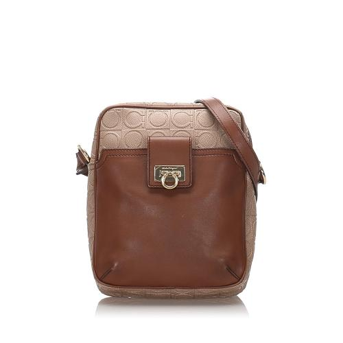Salvatore Ferragamo Leather Gancini Crossbody Bag