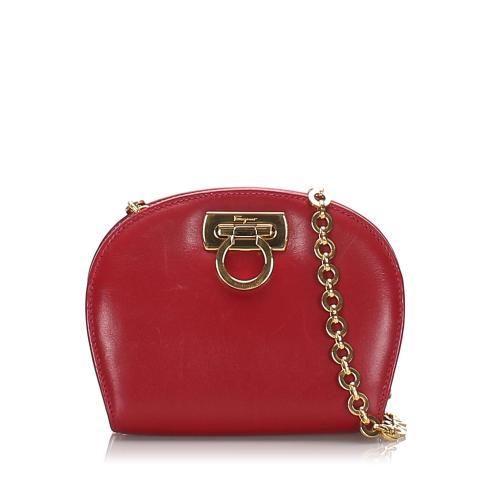 Salvatore Ferragamo Leather Gancini Mini Crossbody Bag