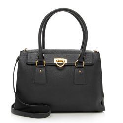 Salvatore Ferragamo Leather Lotty Medium Satchel
