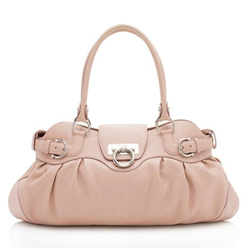 Salvatore Ferragamo Leather Marisa Satchel