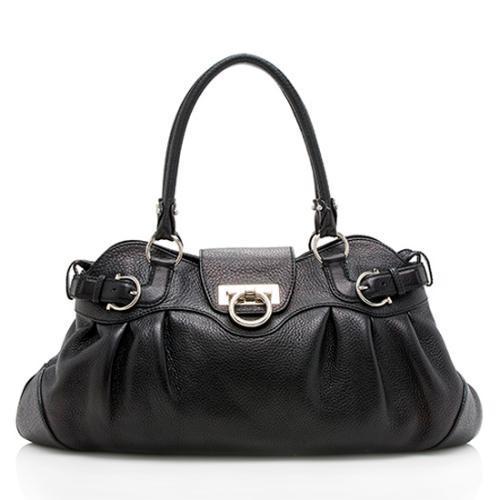 Salvatore Ferragamo Leather Marisa Satchel