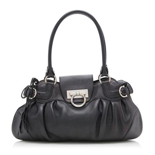 Salvatore Ferragamo Leather Marisa Small Satchel
