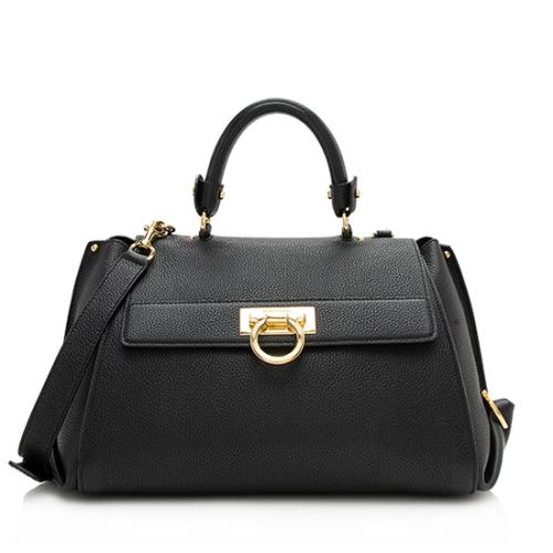 Salvatore Ferragamo Leather Medium Sofia Satchel