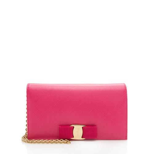Salvatore Ferragamo Leather Miss Vara Wallet On Chain