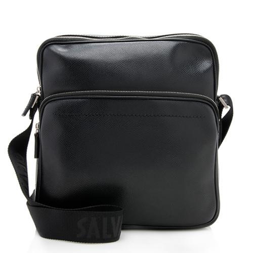 Salvatore Ferragamo Leather Pocket Messenger Bag