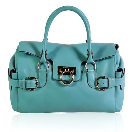 Salvatore Ferragamo Leather Satchel Handbag