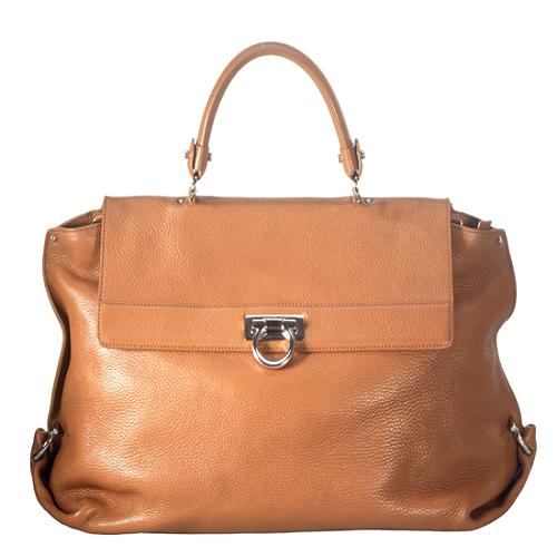 Salvatore Ferragamo Leather Satchel Handbag