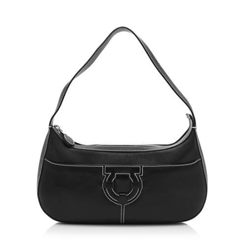 250b882814 Salvatore-Ferragamo-Leather-Stitched-Small-Shoulder -Bag 85888 front large 0.jpg