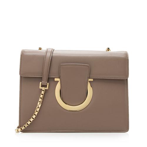 Salvatore Ferragamo Leather Thalia Shoulder Bag