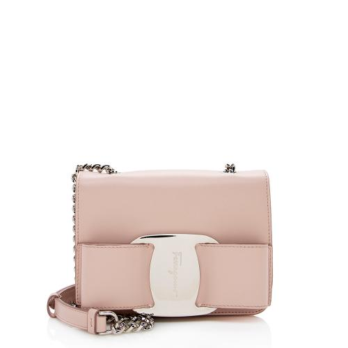 Salvatore Ferragamo Leather Vara Mini Crossbody Bag