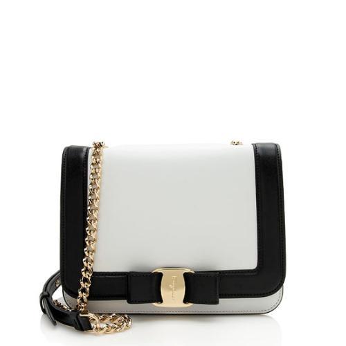 Salvatore Ferragamo Leather Vara Rainbow Shoulder Bag