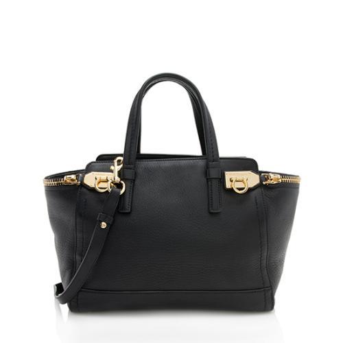 Salvatore Ferragamo Leather Verve Convertible Tote
