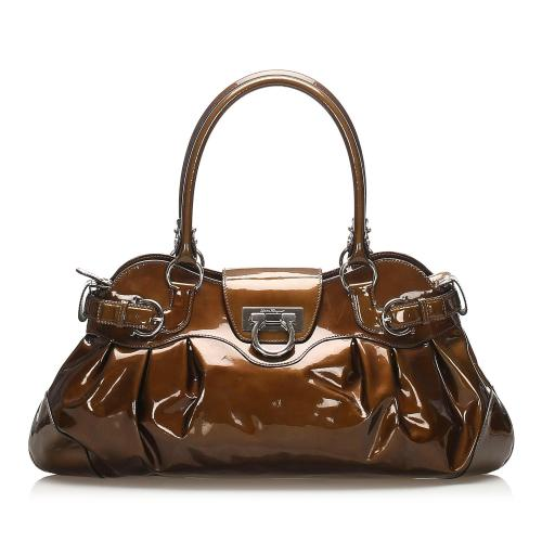 Salvatore Ferragamo Marissa Patent Leather Shoulder Bag