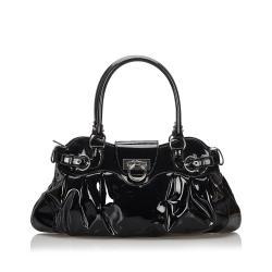 Salvatore Ferragamo Patent Leather Marissa Shoulder Bag