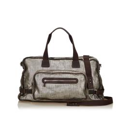 Salvatore Ferragamo Metallic Leather Duffel Bag
