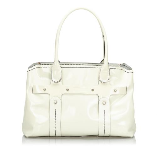 Salvatore Ferragamo Glazed Leather Tote