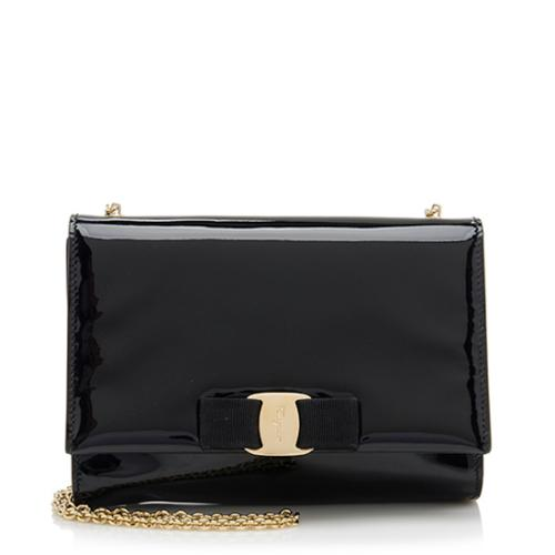 Salvatore-Ferragamo-Patent-Leather-Mini-Miss-Vara-Bow-Shoulder -Bag 77869 front large 0.jpg 0771a481d9045