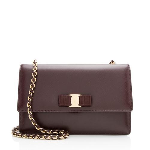 2e45a3730c Salvatore Ferragamo Saffiano Miss Vara Medium Shoulder Bag