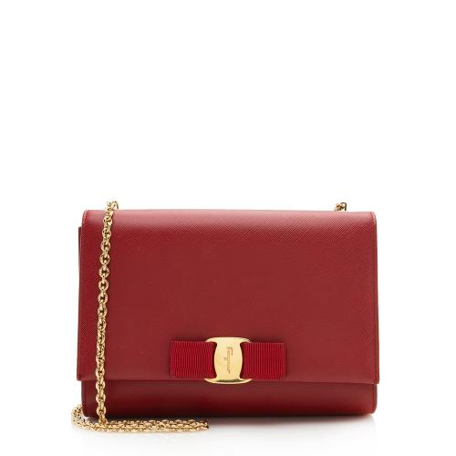 Salvatore Ferragamo Saffiano Miss Vara Mini Shoulder Bag
