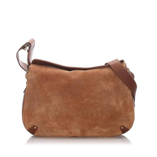 Salvatore Ferragamo Suede Shoulder Bag
