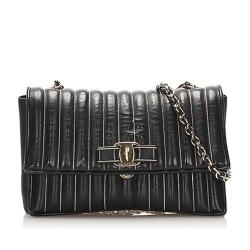 Salvatore Ferragamo Vara Bow Leather Crossbody Bag
