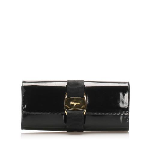 Salvatore Ferragamo Vara Bow Patent Leather Crossbody Bag