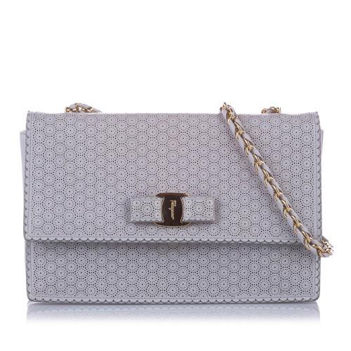 Salvatore Ferragamo Leather Vara Ginny Crossbody Bag