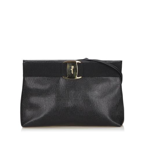 Salvatore Ferragamo Leather Vara Crossbody Bag