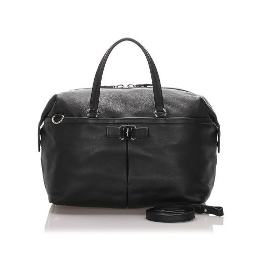 Salvatore Ferragamo Leather Vara Satchel