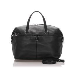 Salvatore Ferragamo Leather Vara Satchel