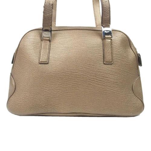Salvatore Ferragamo Leather Vara Shoulder Bag