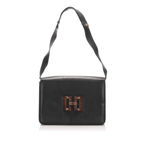 Salvatore Ferragamo Vara Leather Shoulder Bag