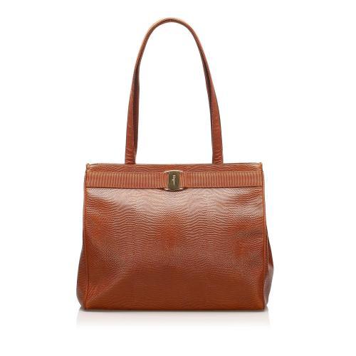 Salvatore Ferragamo Vara Leather Tote Bag