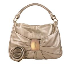 Salvatore Ferragamo Metallic Leather  Vara Satchel