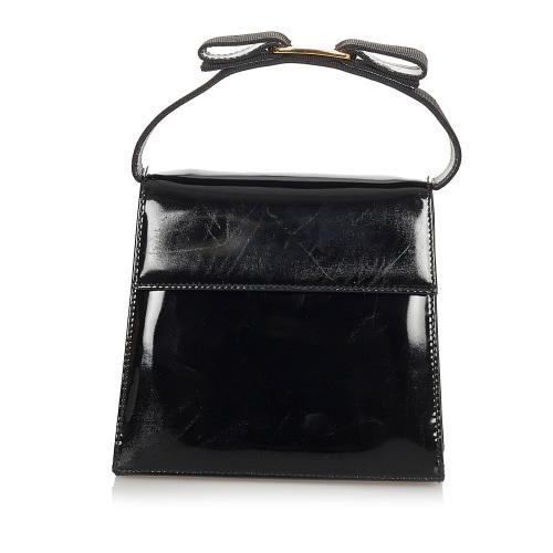 Salvatore Ferragamo Vara Patent Leather Satchel