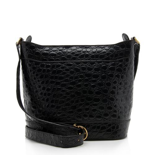 Salvatore Ferragamo Vintage Embossed Leather Shoulder Bag