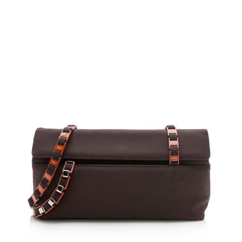 Salvatore Ferragamo Vintage Grosgrain Vara Chain Shoulder Bag