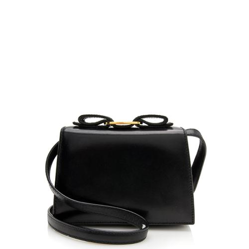 Salvatore Ferragamo Vintage Leather Bow Mini Shoulder Bag