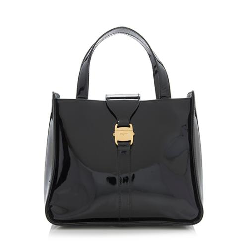 Salvatore-Ferragamo-Vintage-Patent-Leather-Small-Tote - 89428 front large 0.jpg 6b7d2871a9d9a