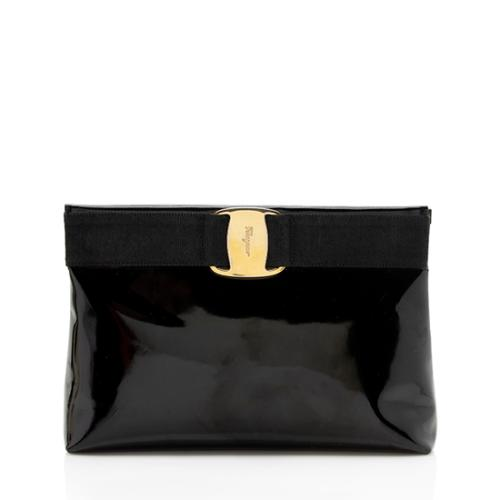 Salvatore Ferragamo Vintage Patent Leather Vara Clutch - FINAL SALE