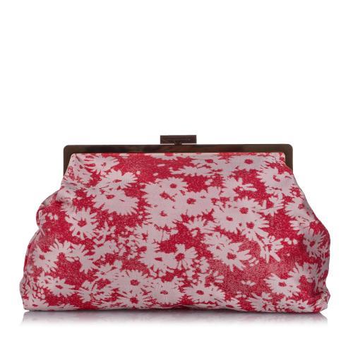 Stella McCartney Daisy Canvas Clutch Bag