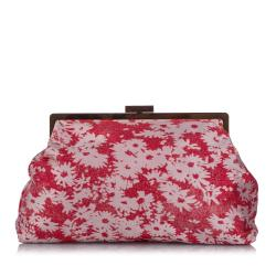 Stella McCartney Daisy Canvas Clutch Bag